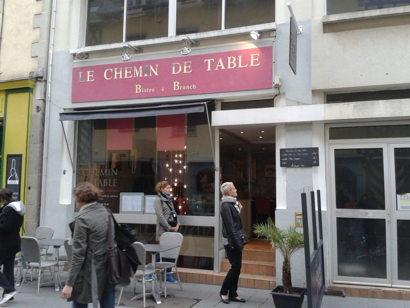 Le chemin de table Rennes 1